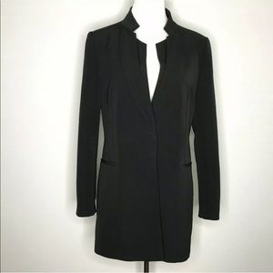 Zara Inverted Lapel Frock Coat Blazer